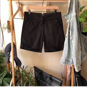 NWOT The Limited Black Chino Shorts
